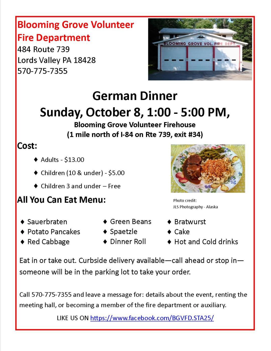 BG Fire Dept German Dinner